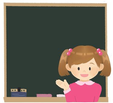 黑板和女孩