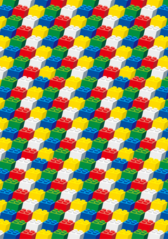 Block background illustration colorful
