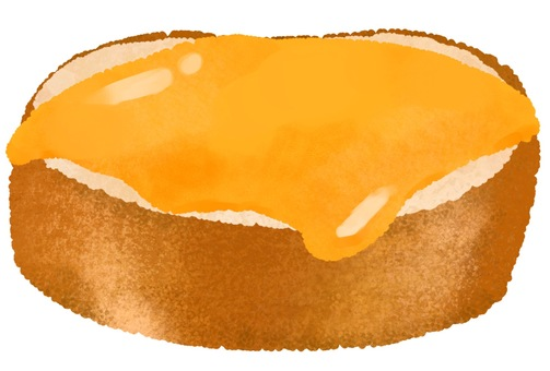Illustration of cheese toast