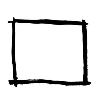 Brush touch rectangular frame 4