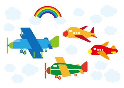 Cute airplane · helicopter
