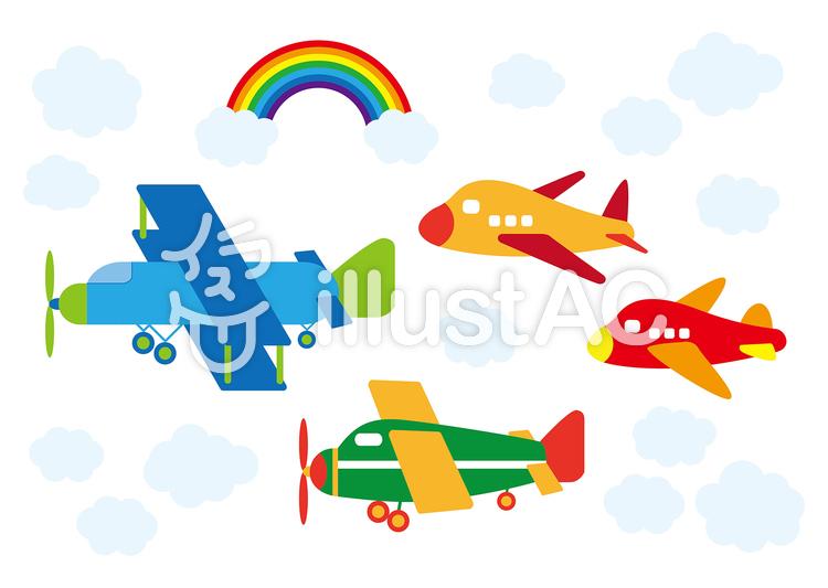 かわいい飛行機ヘリコプターイラスト No 801048無料イラストなら