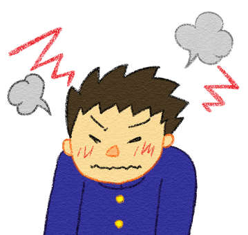 An irritated anger Anger boy