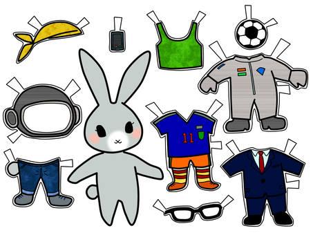 Dress up of rabbits 4