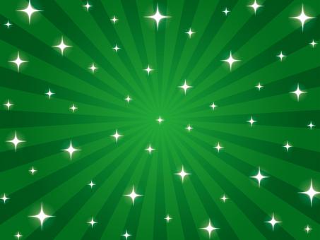 緑のキラキラ放射背景
