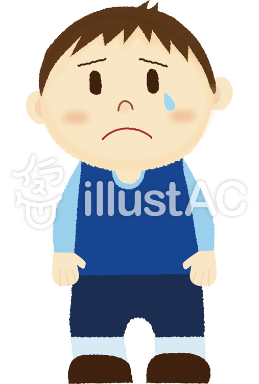 悲しい表情の男の子イラスト No 1114224無料イラストならイラストac