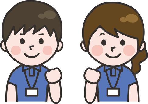 Short sleeve staff men and women