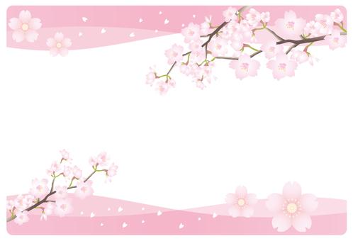 Sakura pink frame
