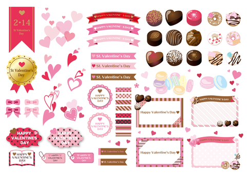 Valentine Material Set Various