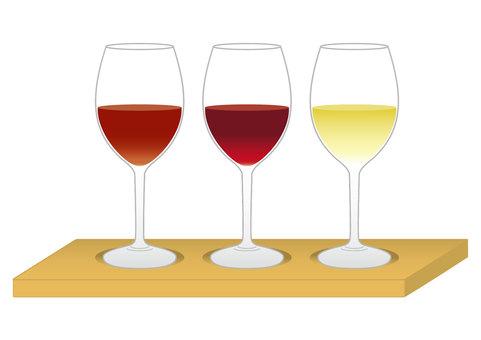 ワイン 三種飲み比べ