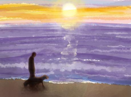바다와 석양