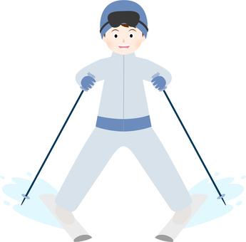 Men skiing