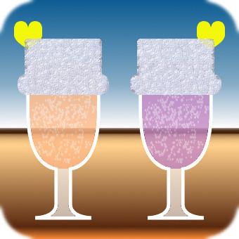 Pair drink (Orange × Violet)
