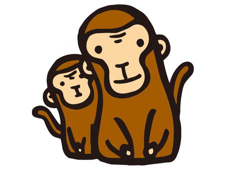 원숭이의 친자