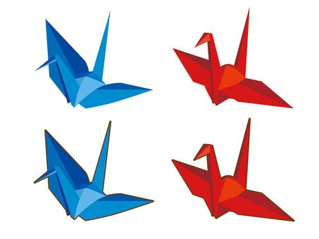 Origami and crane