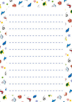Cute sea creature notepaper 01