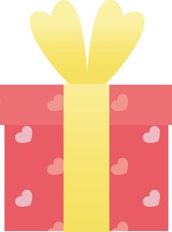 Heart pattern gift BOX (pink)