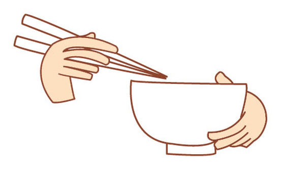Chopsticks and bowls