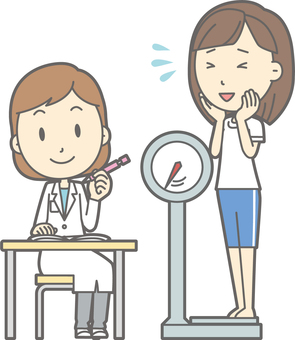 Health checkup for high school students - Weight measurement - whole body