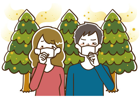 Male and female hay fever