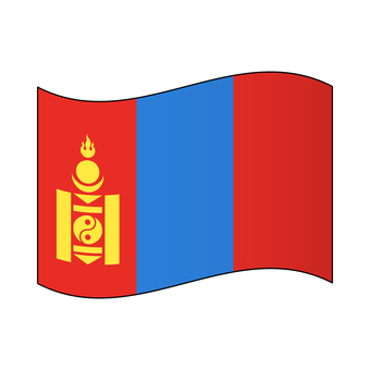 Flag of Mongolia / Flapping