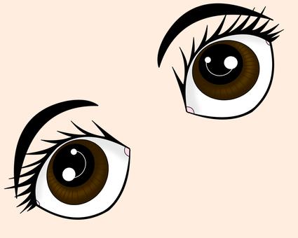여성의 눈 일러스트