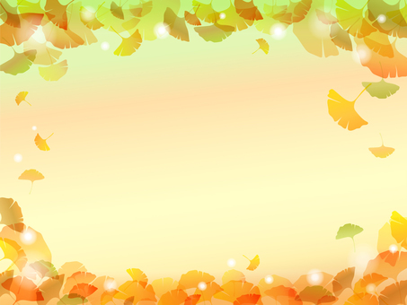Colored leaves Ginkgo background -3