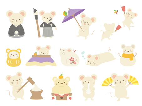 New Year Mouse Set (2)