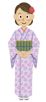 Kimono woman illustration