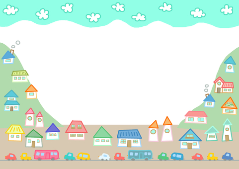 Town and car frame
