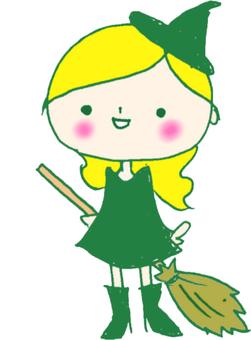 可愛的女巫(綠色)