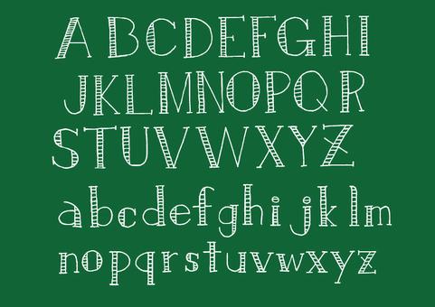 文字-アルファベット3(白)