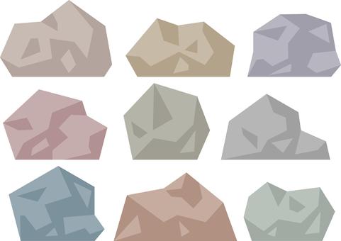 Simple paper-cut style rock
