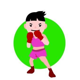 권투 여성