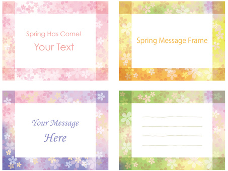 Spring message frame 1