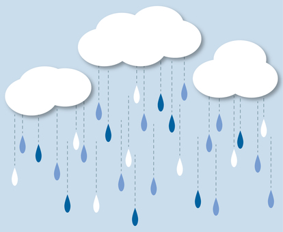 Illustration 2 of rain and clouds