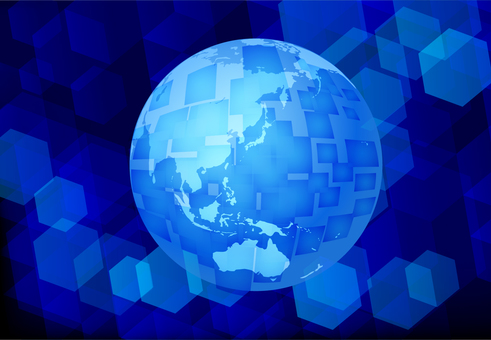 Blue Network Technology Global Background