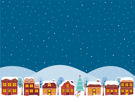 Winter townscape background