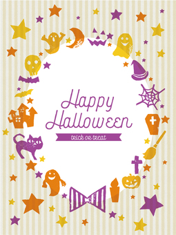 Halloween stamp message card