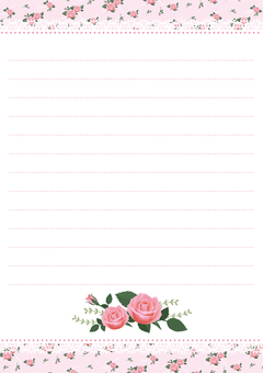 Stationery of a rose (rose) 1