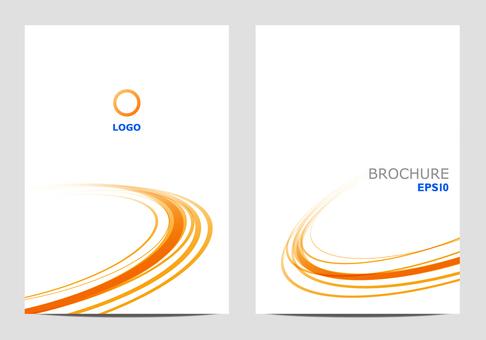 Template design round orange
