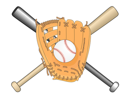 Glove ball bat