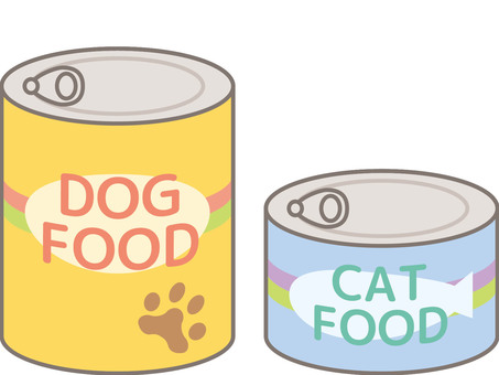 Canned pet food