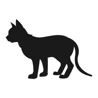 Cat - whole body silhouette