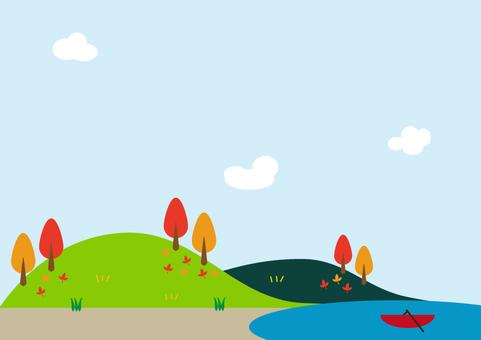 Autumn recreational background in autumn