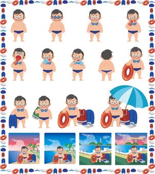 水泳男子セット