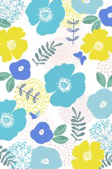 블루 꽃 패턴