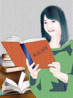 A woman reading 11