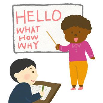 English class (black teacher)