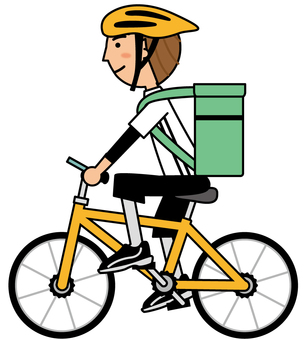 Bicycle delivery_green bag